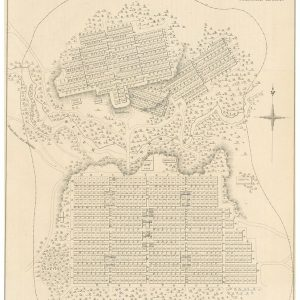 1839 line drawn map plan of Adelaide and North Adelaide